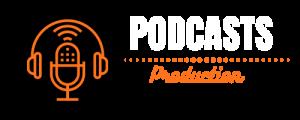 logo podcasts production blanc